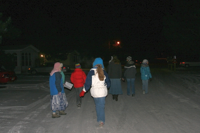 Caroling, caroling through the snow...